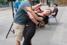 Everyone Learned to Shimmy and Shake at the Comcast Center's Salsa Under the Sun Event