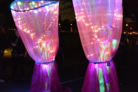 Perfect Fall Night at Fairmount Park's GLOW in the Park at Smith Memorial Arch