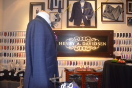 Henry A. Davidsen Reveals Gold Threads, Customized Name Pinstripes for Dapper Men
