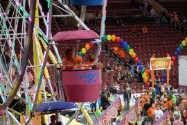 Carnival Games, Ferris Wheel Rides and Fun with Flyers Fans and Their Families at the Annual Philadelphia Flyers Wives Carnival