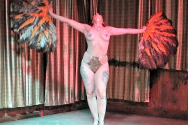Philly Burlesque Dancers Wow Crowds at Rasputin's Room at Franky Bradley's